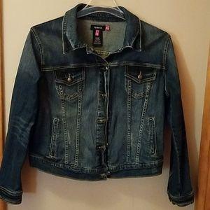 Size 0 Torrid Jean Jacket. Like new. Worn once.